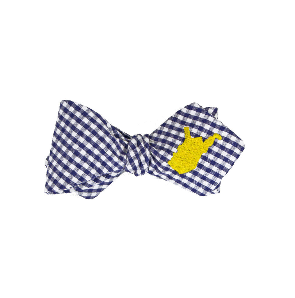 West Virginia Bow Tie - Navy & Gold