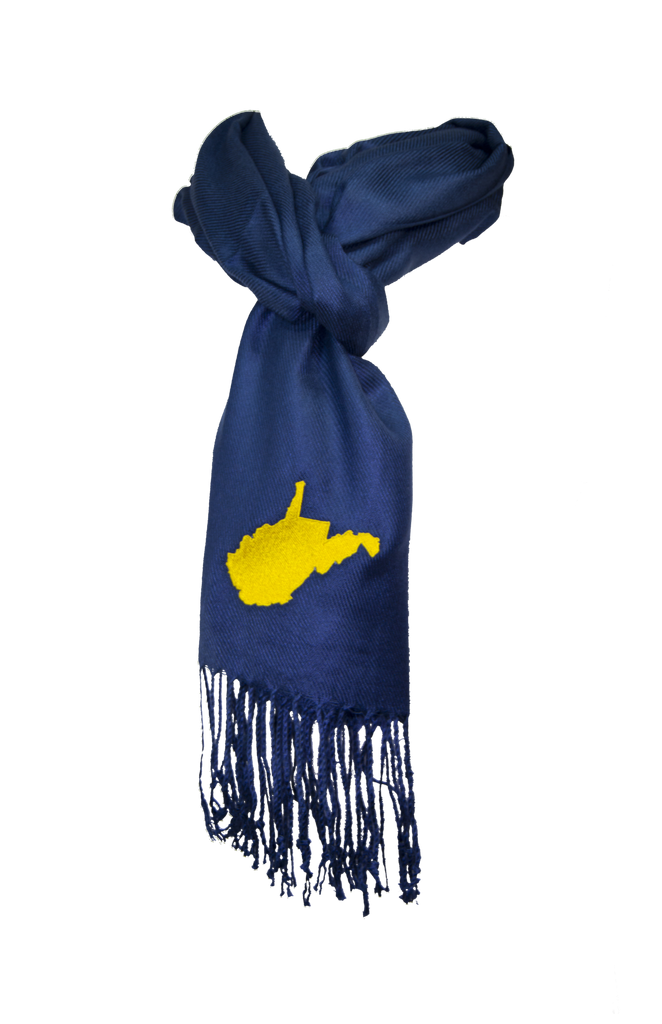 West Virginia Scarf - Navy & Gold