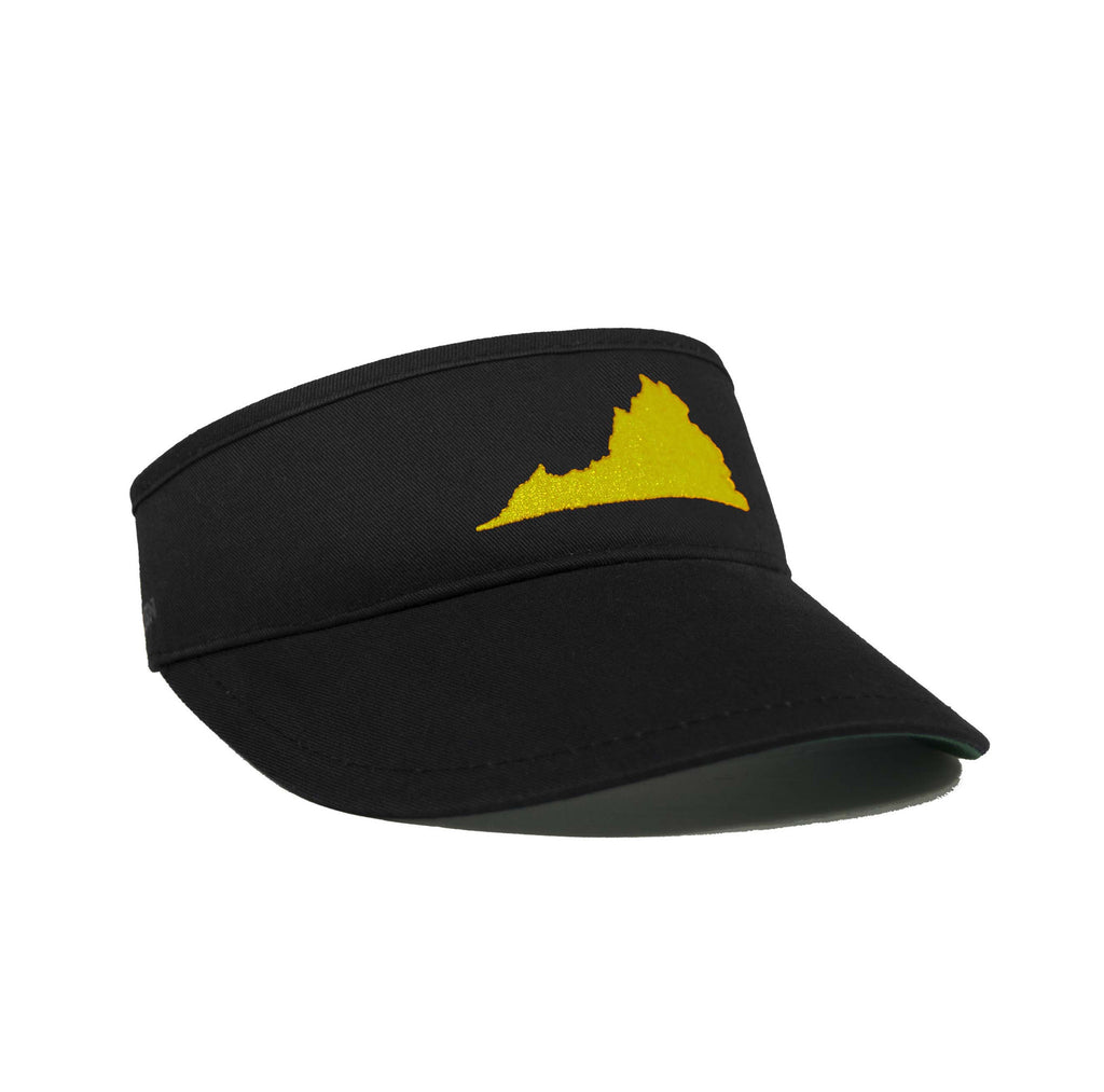 Virginia Visor - Black & Gold