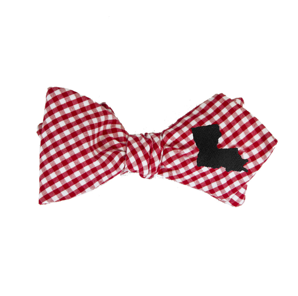 Louisiana Bow Tie - Red & Black