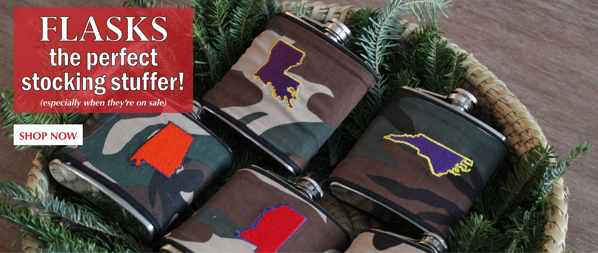 Flasks are the best gift- pick a college or state!