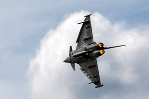 Eurofighter jet in action