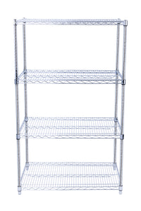 NSF Chrome Wire Shelving Heavy Duty Metal Wire Rack Shelving Height Adjustable Commercial Grade Large Storage Shelves