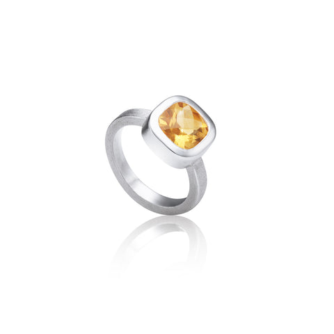 Cushion Citrine ring