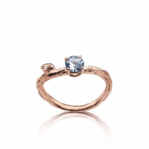 Branch and leaf engagement ring