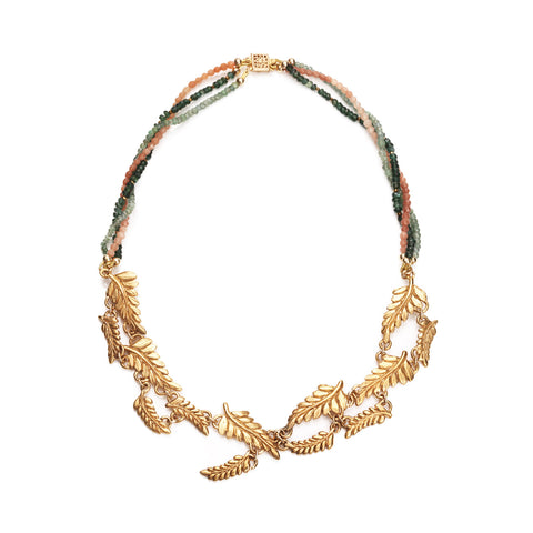 Fern statement necklace