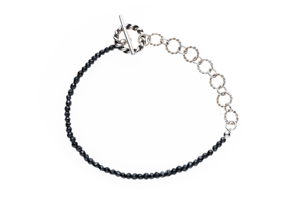 Hematite and Sterling silver bracelet