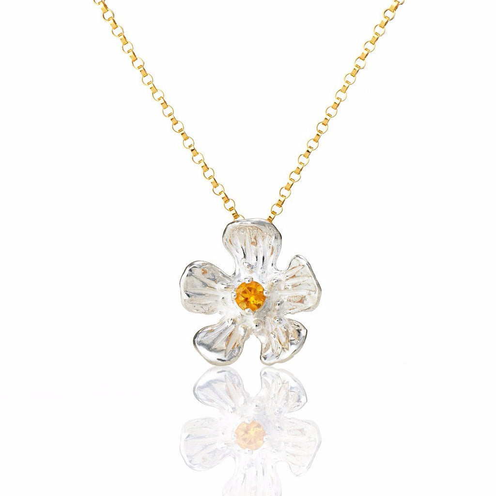Golden Glow - buttercup necklace with gemstone - Kathryn Rebecca