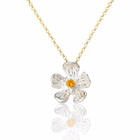 Golden Glow - buttercup necklace with gemstone