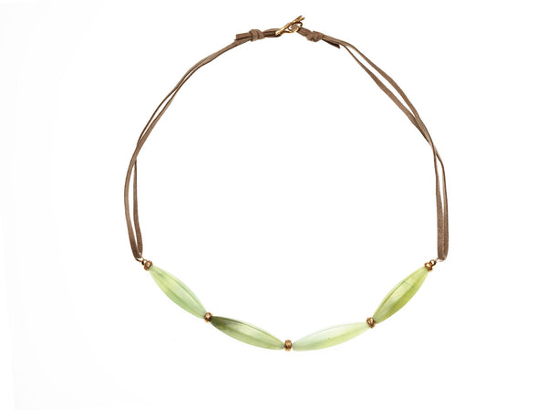 Blooming branches - jade necklace