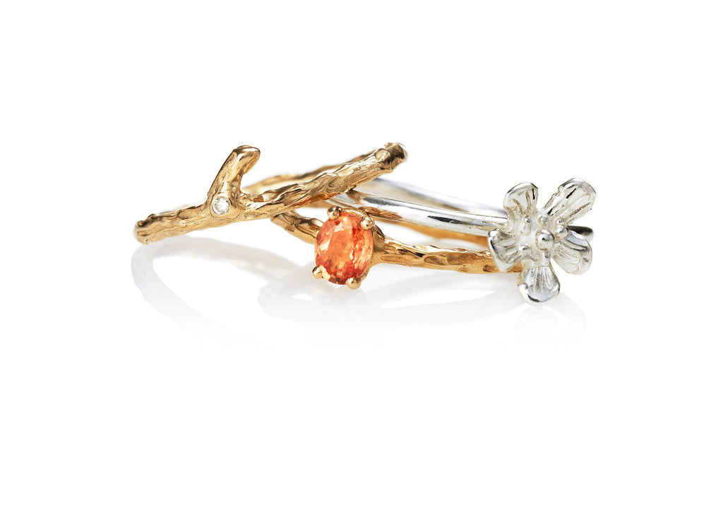 Blooming branches -oval branch ring - Kathryn Rebecca
