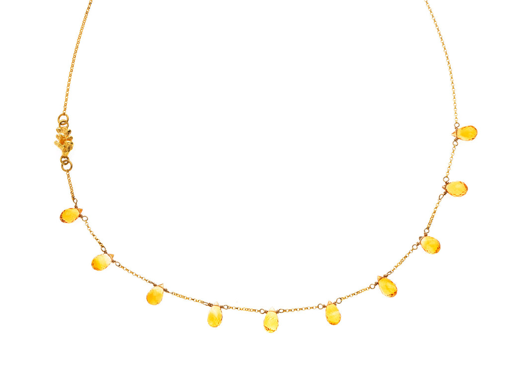 Destined Pinecone - Citrine necklace