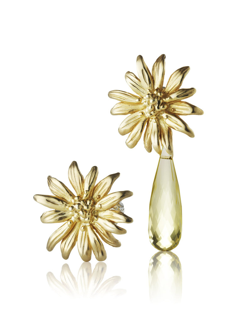 Wildflower- Daisy studs with drop