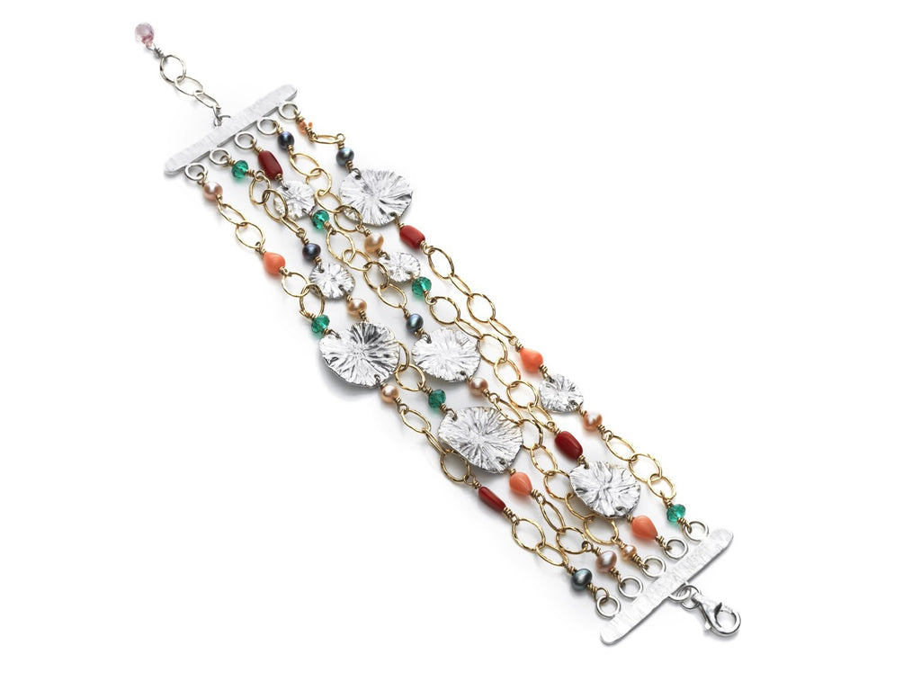 Beneath the lilies - 5 strand bracelet - Kathryn Rebecca