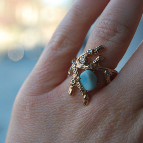 "Custom made ""Stephanie"" branch ring"