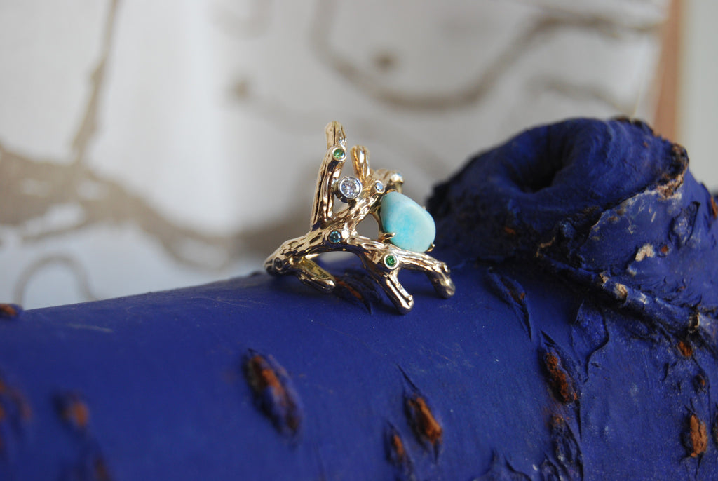 "Custom made ""Stephanie"" branch ring - Kathryn Rebecca"