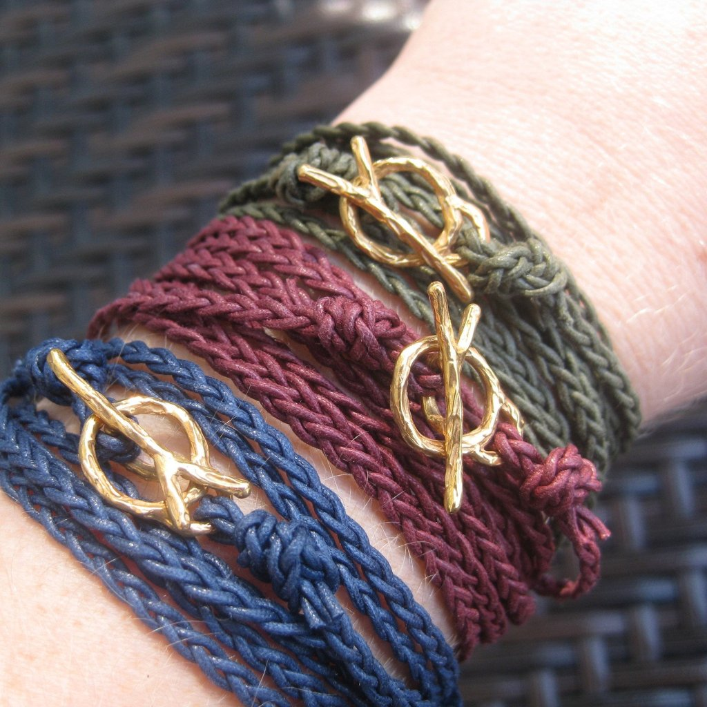 Blooming branches - wrap bracelet