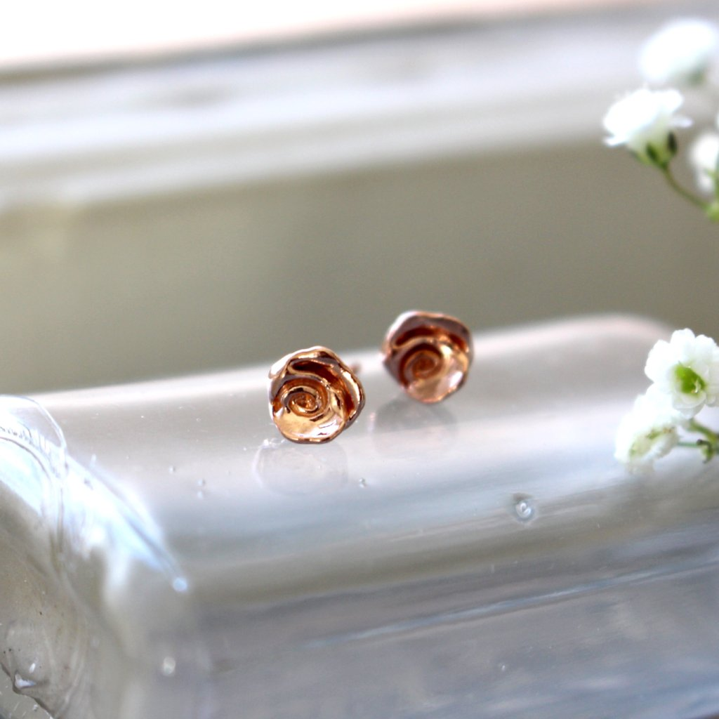 Rose stud earrings - Kathryn Rebecca