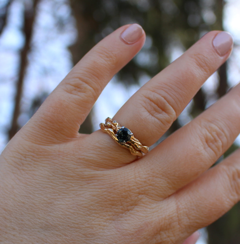 Branch and knot engagement ring