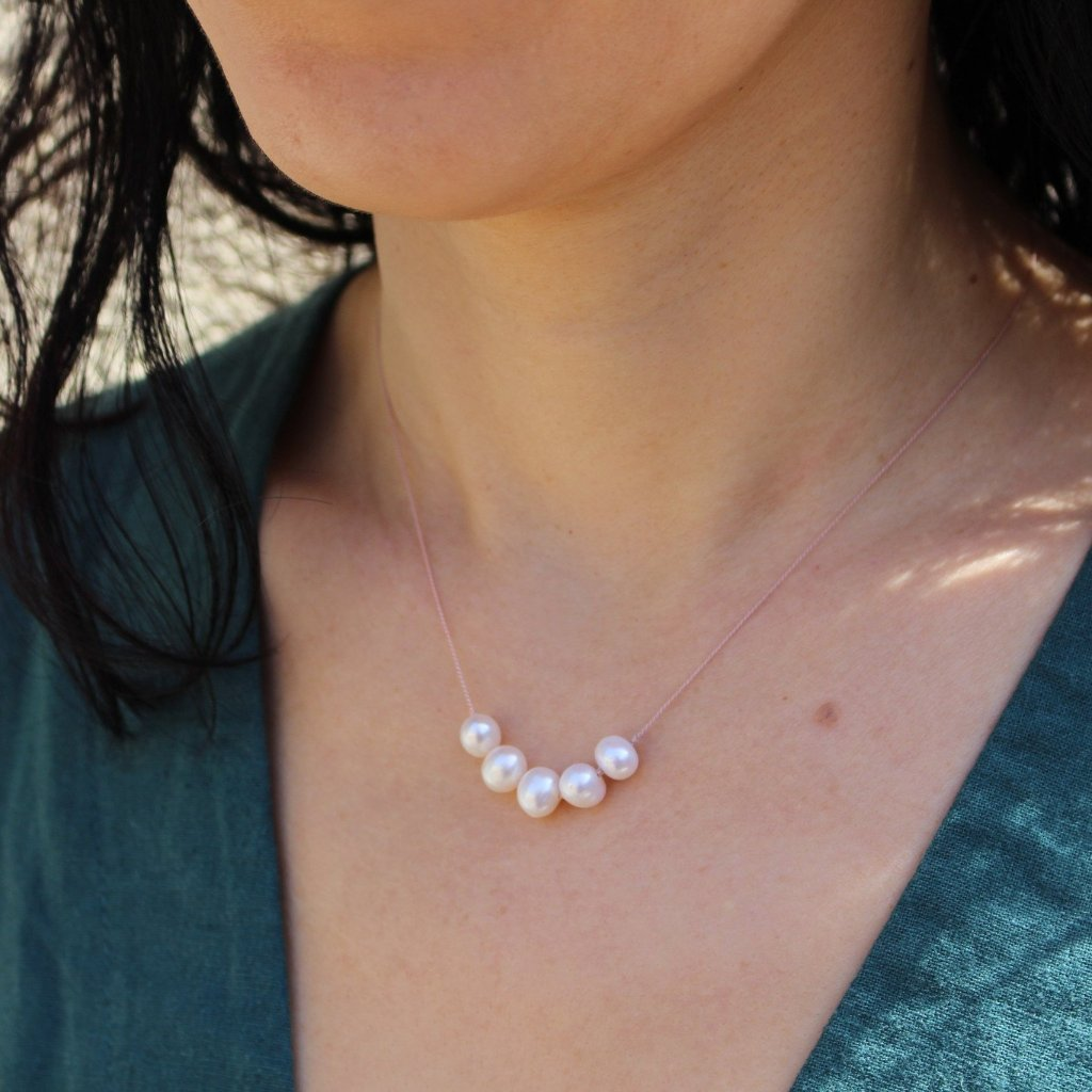 Floating Freshwater Pearl Necklace