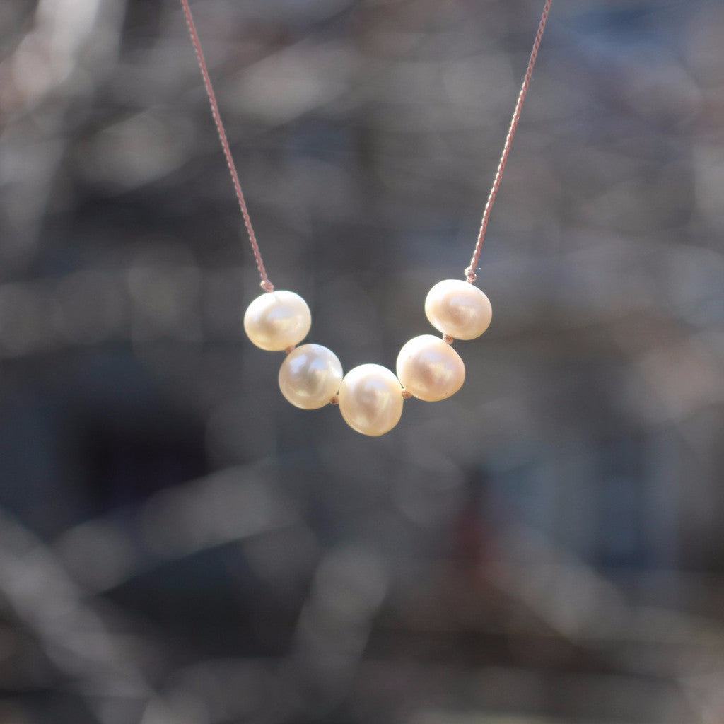 Floating Freshwater Pearl Necklace - Kathryn Rebecca