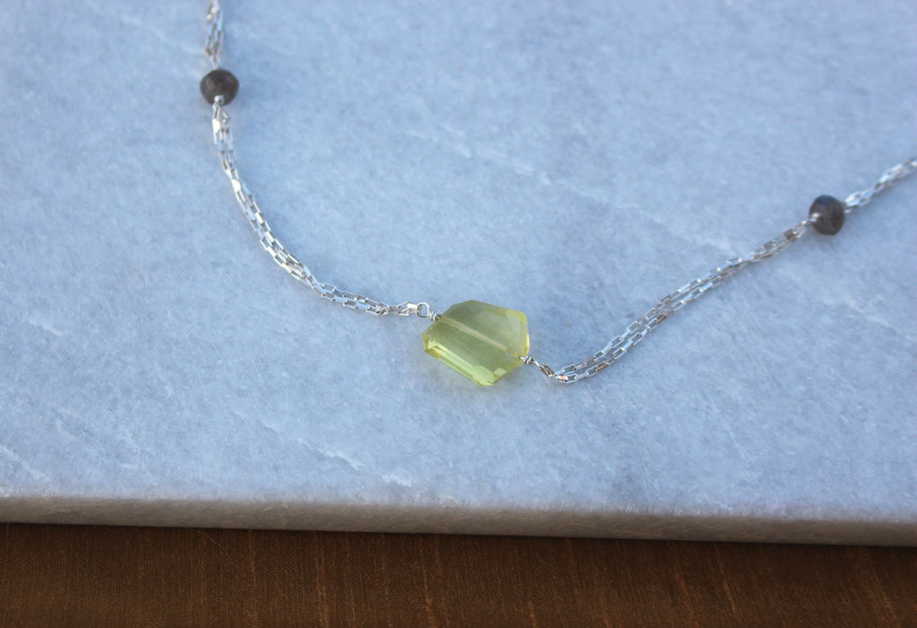 Lemon quartz Necklace - Kathryn Rebecca
