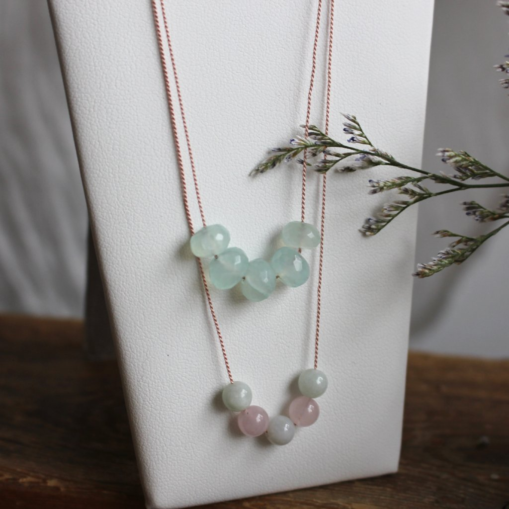 Gemstone with silk cord - Kathryn Rebecca