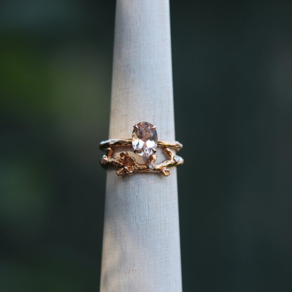 Cherry Blossom wedding band - Kathryn Rebecca