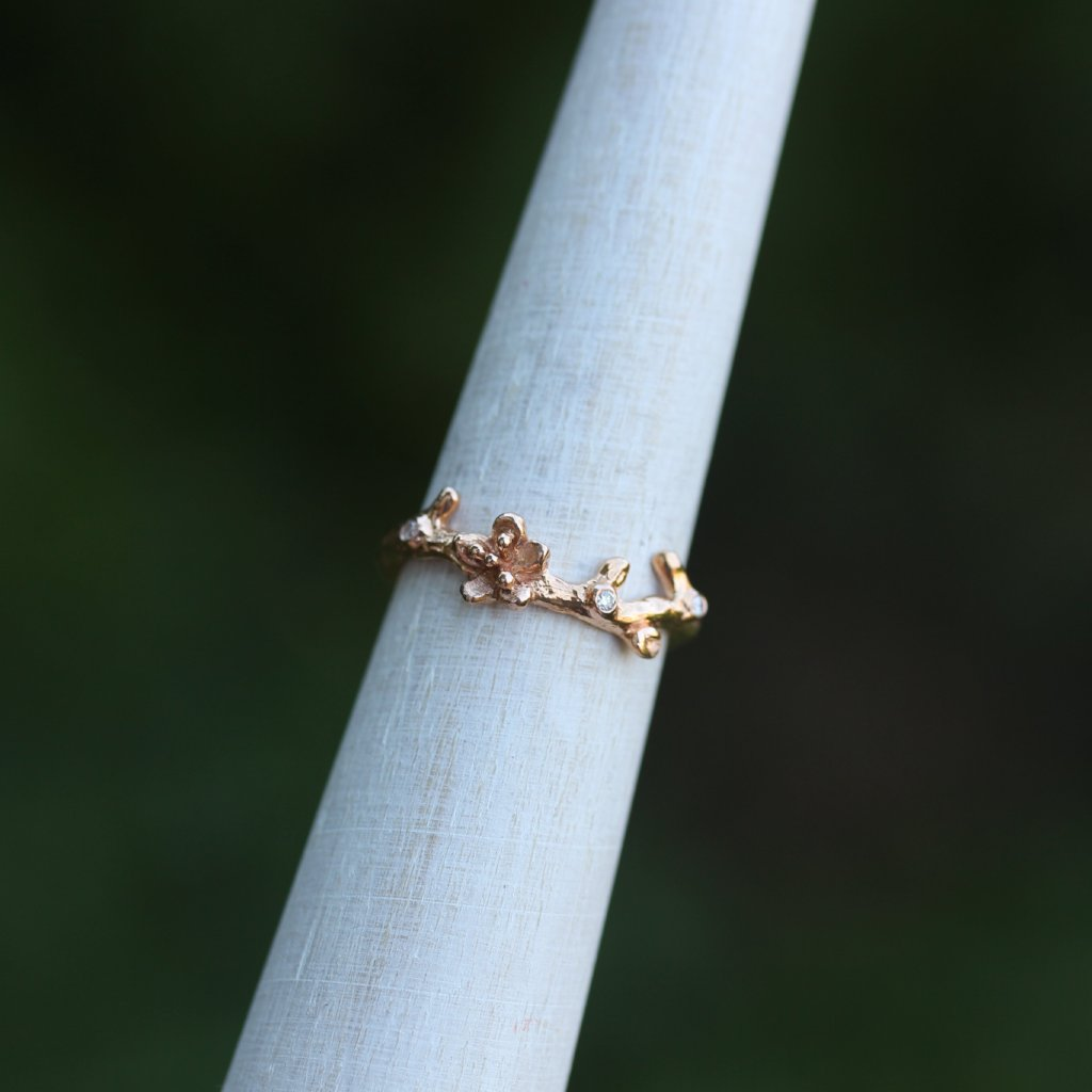 Cherry Blossom wedding band