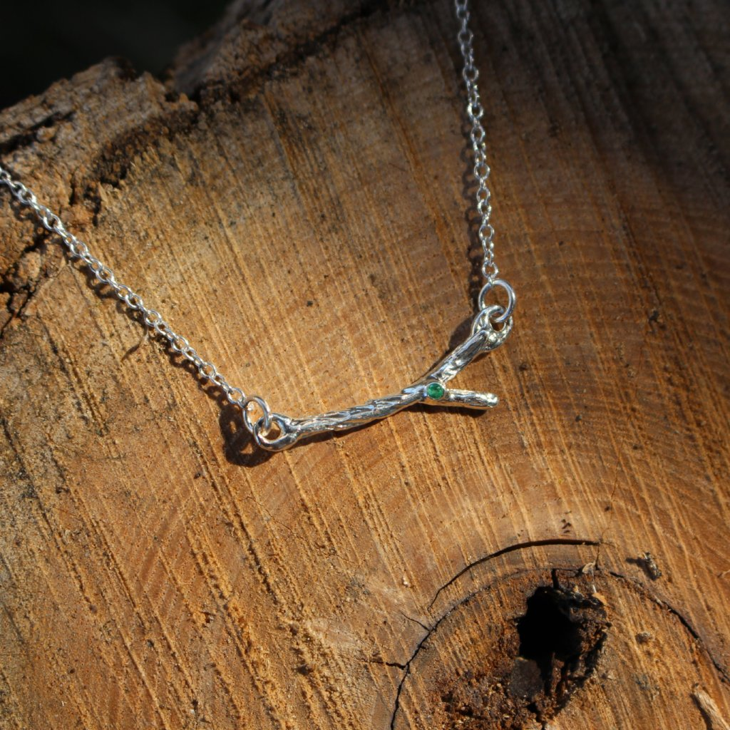 Delicate branch necklace