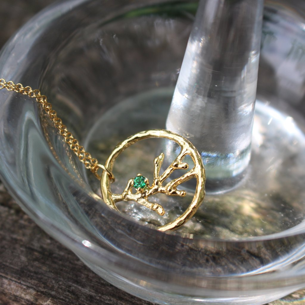 Blooming branches - gemstone necklace