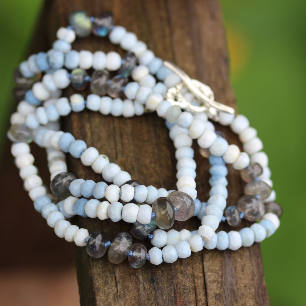 Blue Opal Necklace - Kathryn Rebecca
