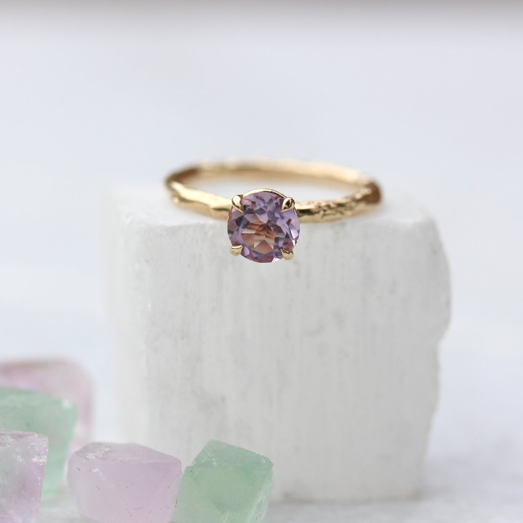 Amethyst and branch ring - Kathryn Rebecca