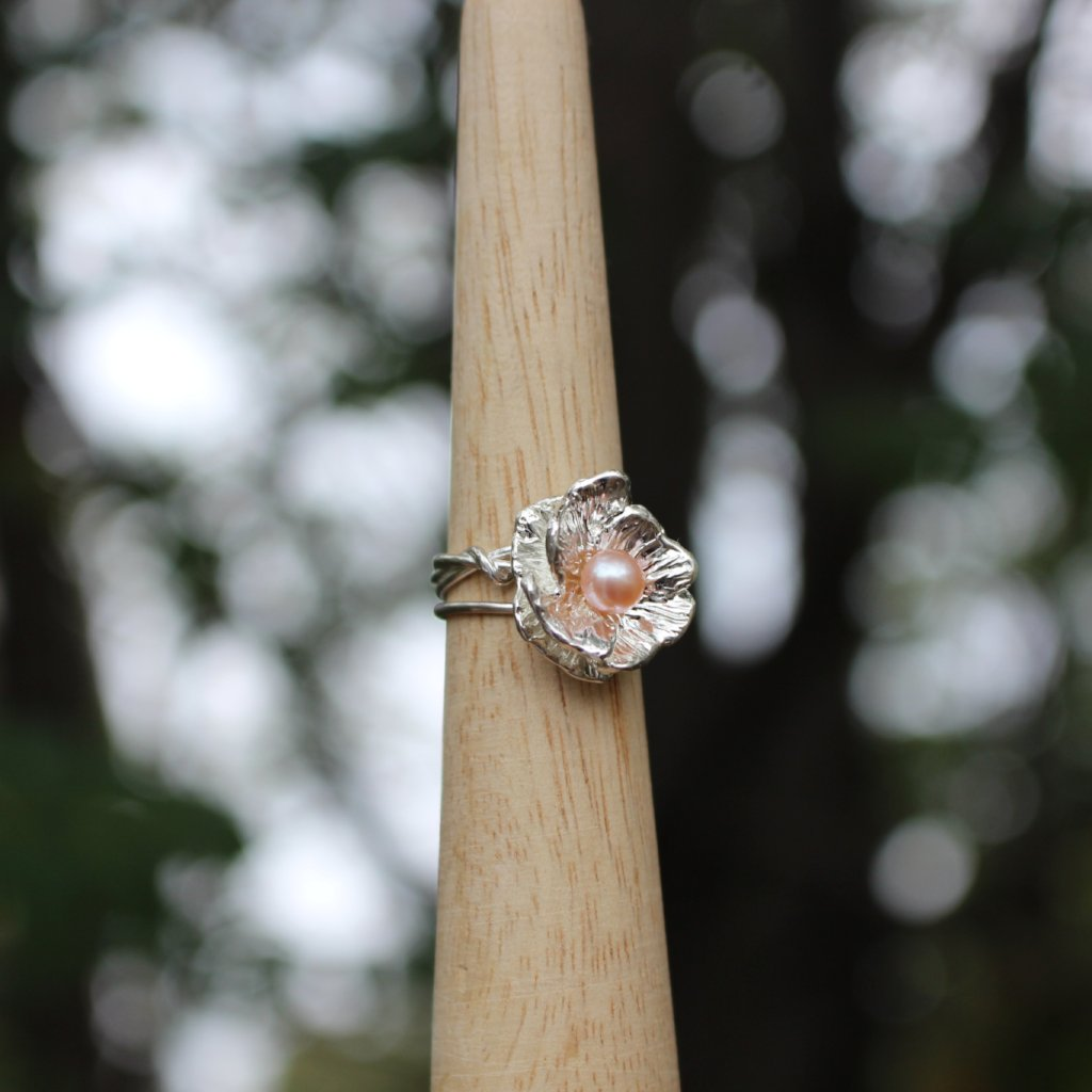 Poppy ring with pearl - Kathryn Rebecca