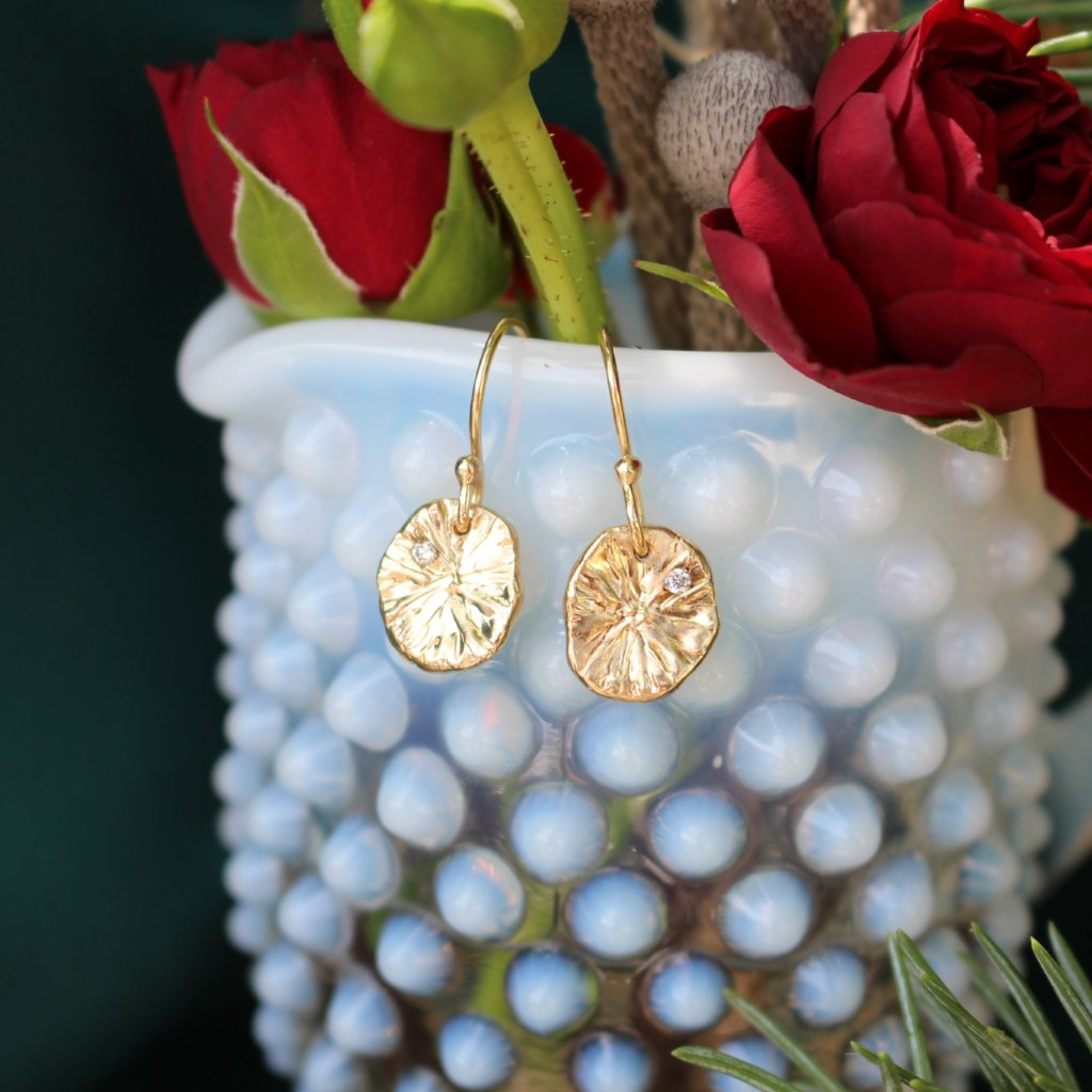 Lily pad earrings - Kathryn Rebecca