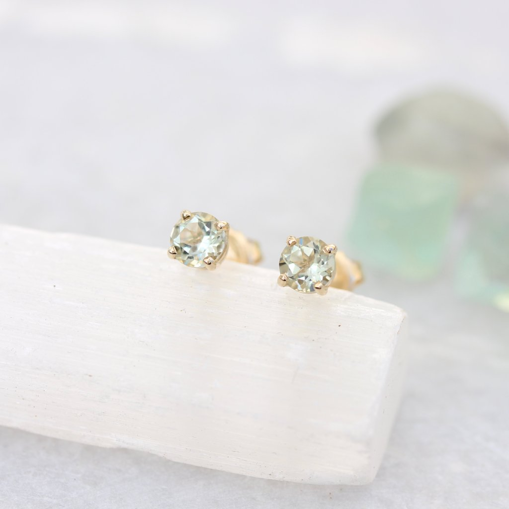 Coloured Gemstone Stud Earrings - Kathryn Rebecca