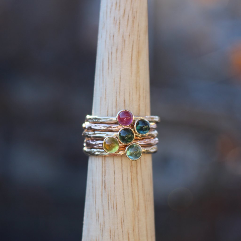 Stackable Tourmaline Rings - Kathryn Rebecca