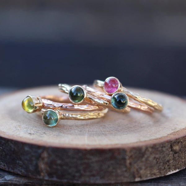 Stackable Tourmaline Rings