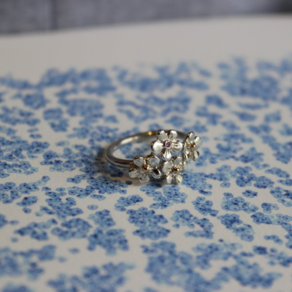 Forget-me-not multi ring