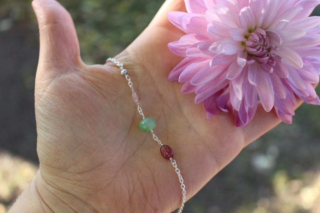 Opal meets tourmaline everyday bracelet - Kathryn Rebecca