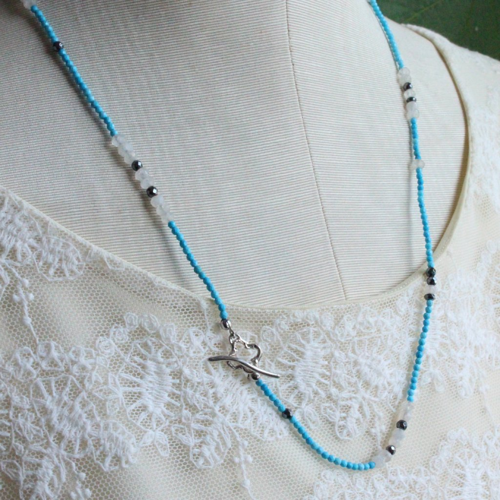 Clover and turquoise necklace - Kathryn Rebecca