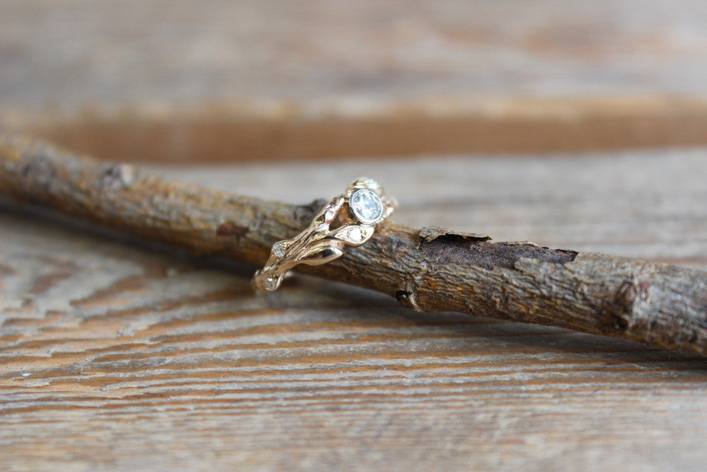 Branch leaf ring and band