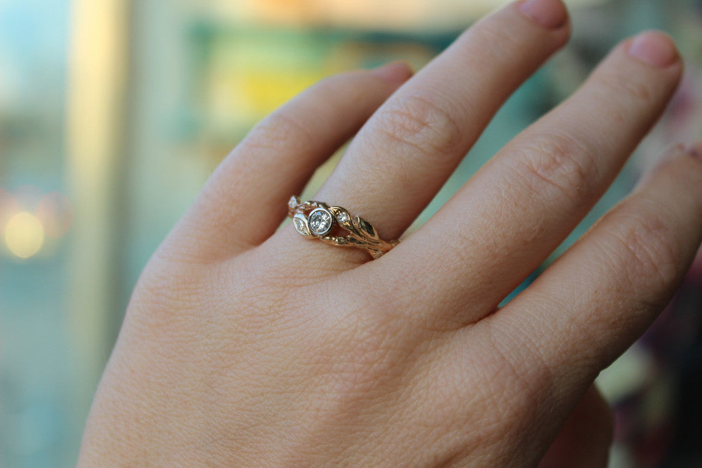 Branch leaf ring and band - Kathryn Rebecca