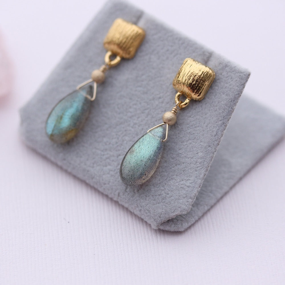 Drop Earring with Gemstone