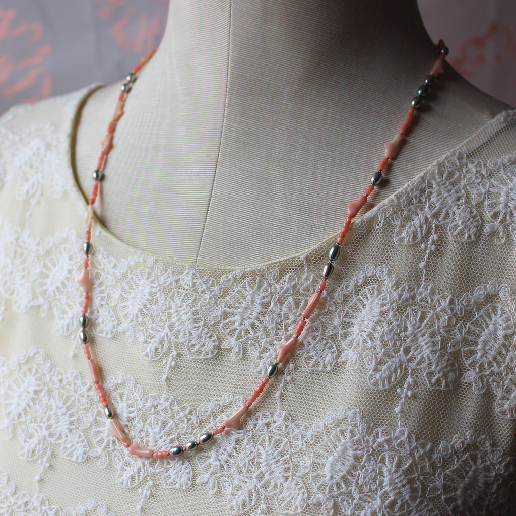 Coral and Pearl Necklace - Kathryn Rebecca