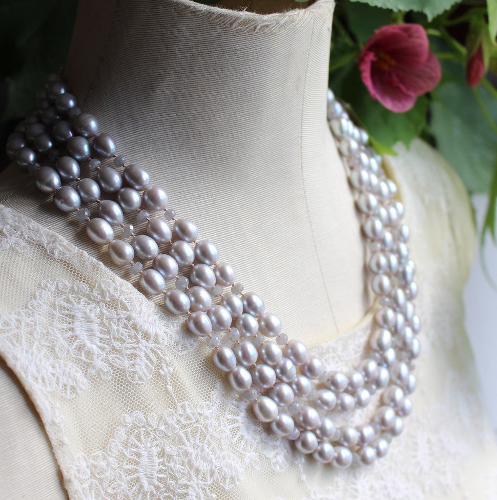 Multi Strand Pearl Necklace - Kathryn Rebecca