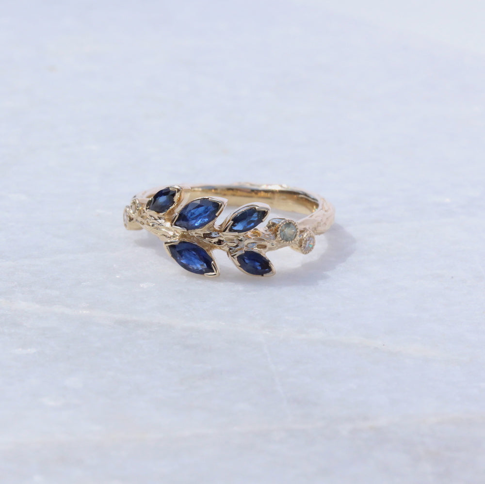 Marquise Sapphire Ring