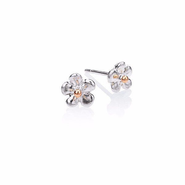Forget-me-not stud earring