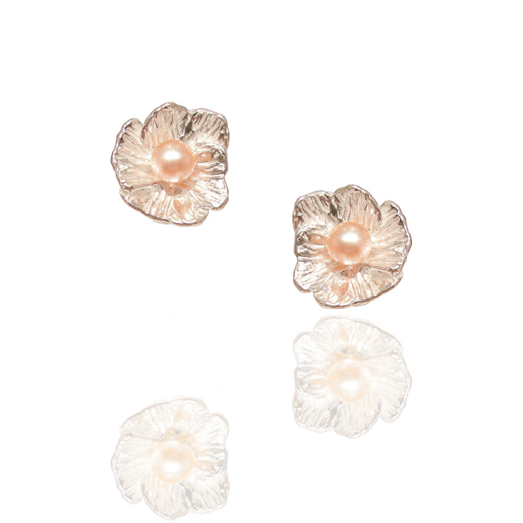 Poppy studs with pearl - Kathryn Rebecca