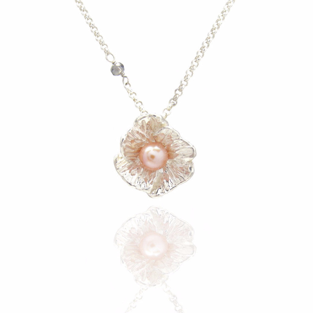 Poppy with pearl necklace